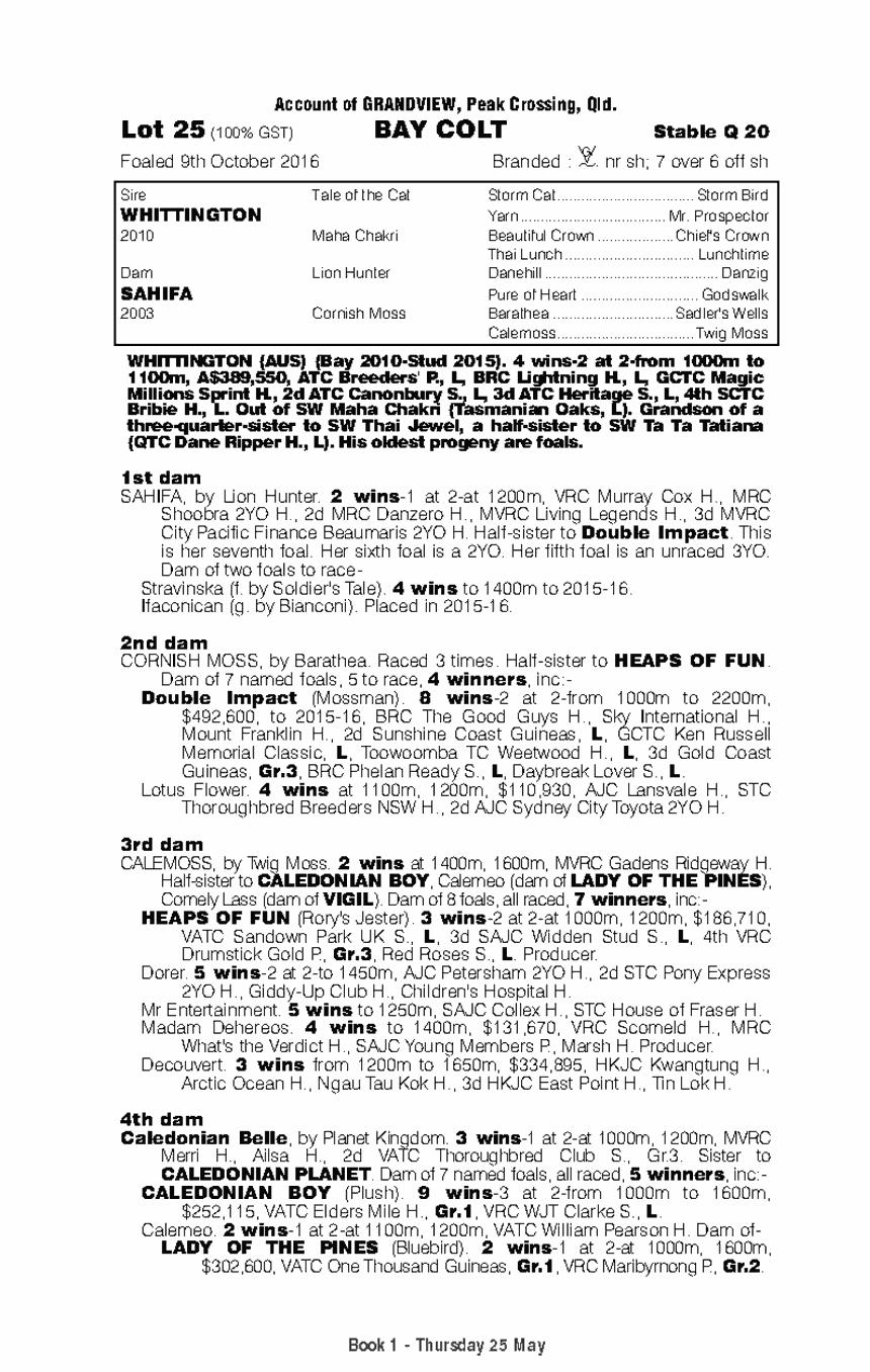Whittington (AUS) / Sahifa (AUS) - pedigree