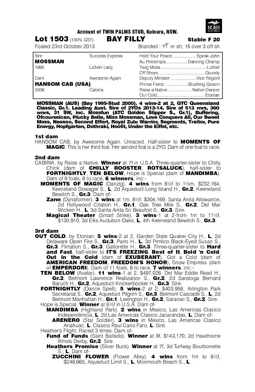 Pedrena (AUS) - pedigree