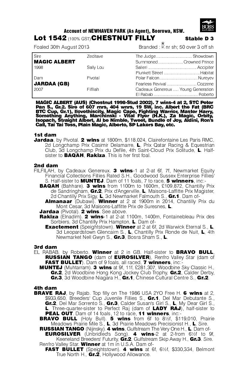 Amber In Paris (AUS) - pedigree