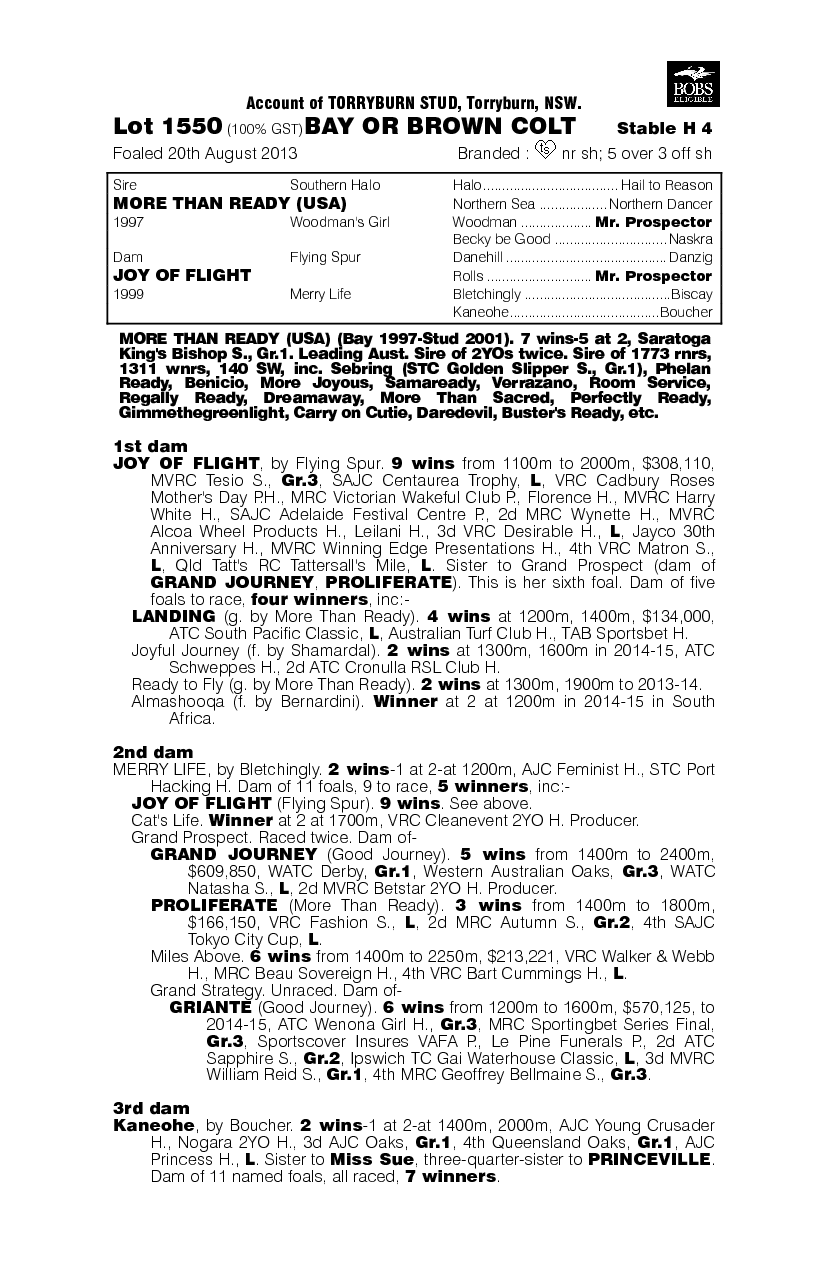 Jacaranda Prince (AUS) - pedigree