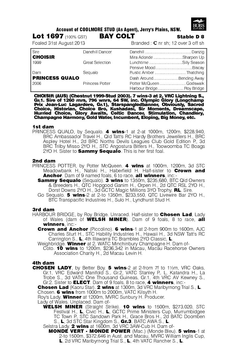 Damn Fine (AUS) - pedigree