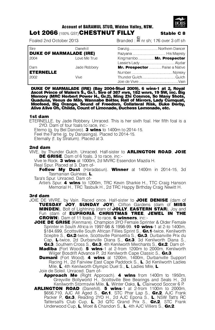 Perpetually (AUS) - pedigree
