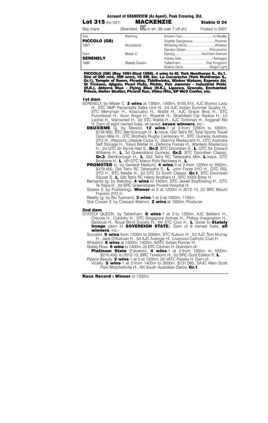 Mackenzie (AUS) - pedigree